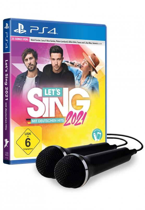 Lets Sing 2021 mit deutschen Hits [+ 2 Mics] {PlayStation 4}