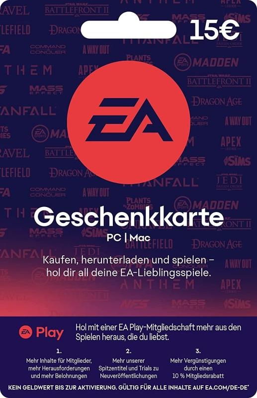 origin guthaben karte EA Origin Guthaben (15 Euro) [Code]