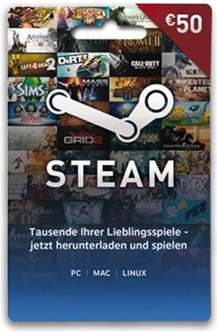 Steam Guthaben (50 Euro) [Code]