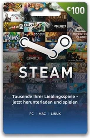 Steam Guthaben (100 Euro) [Code]