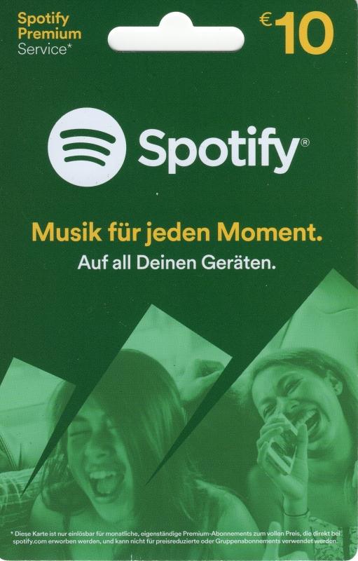 Spotify Karte 10.Spotify Guthaben 10 Euro Code