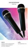 Mikrofon für Karaoke Games (2er Set) [USB - kompatibel zu PlayStation, Nintendo, XBox]